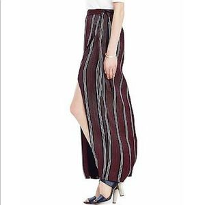 Banana Republic Skirts - Banana Republic Stripe Wrap Side Slit Maxi Skirt—4